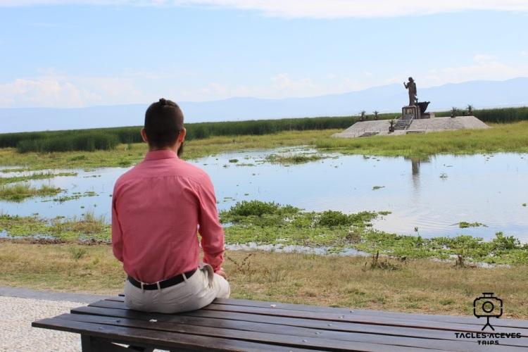 disfrutando el paisaje