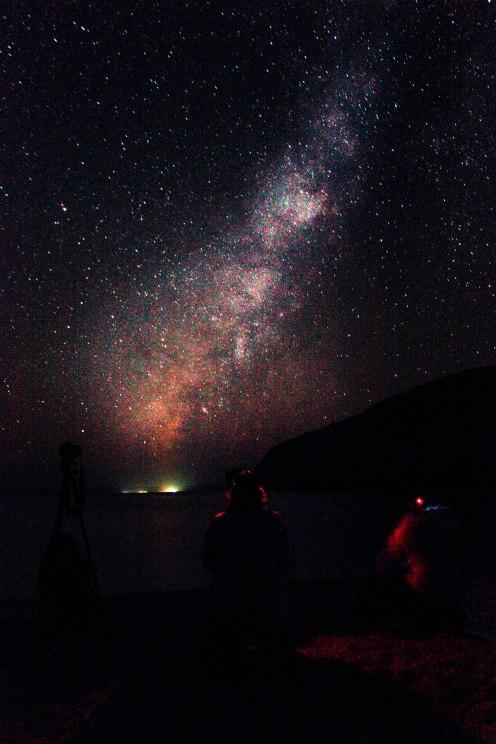 Todos con la Vía Lactea. Ensenada Grande II, Isla Espíritu Santo, La Paz BCS. ®TaclesTrips