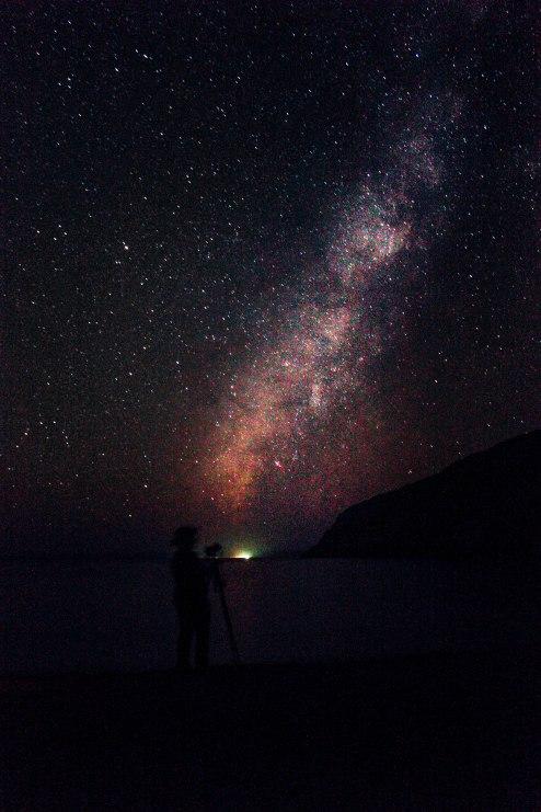 Tú y la Vía Lactea. Ensenada Grande II, Isla Espíritu Santo, La Paz, BCS. ®TaclesTrips
